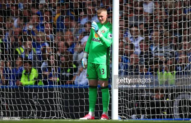 Jordan Pickford of Sunderland during the Premier League match between Chelsea and Sunderland at Stamford Bridge on May 21 2017 in London England
