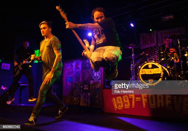 Jordan Pundik and Ian Grushka of New Found Glory perform at O2 Academy Oxford on September 21 2017 in Oxford England