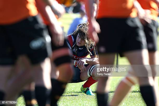 Jordan Reid of Melbourne Rising looks dejected after losing to the Country Eagles during the NRC Semi Final match between the NSW Country Eagles and...