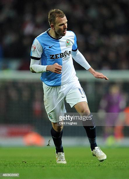 Jordan Rhodes of Blackburn Rovers during the Sky Bet Championship match between Blackburn Rovers and Middlesbrough at Ewood Park on December 28 2014...