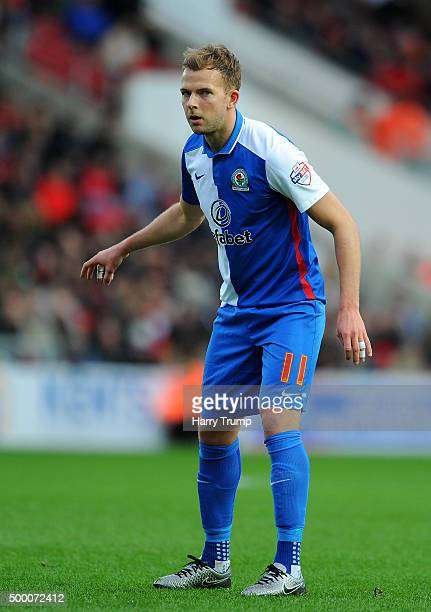 Jordan Rhodes of Blackburn Rovers during the Sky Bet Championship match between Bristol City and Blackburn Rovers at Ashton Gate on December 5 2015...