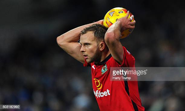 Jordan Rhodes of Blackburn Rovers during the Sky Bet Championship match between Cardiff City and Blackburn Rovers at the Cardiff City Stadium on...
