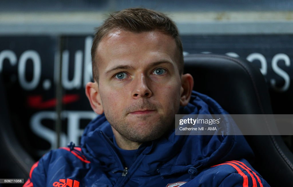 Jordan Rhodes of Middlesbrough on the bench during the Sky Bet Championship match between MK Dons and Middlesbrough at Stadium mk on February 9, 2016 in Milton Keynes, England.
