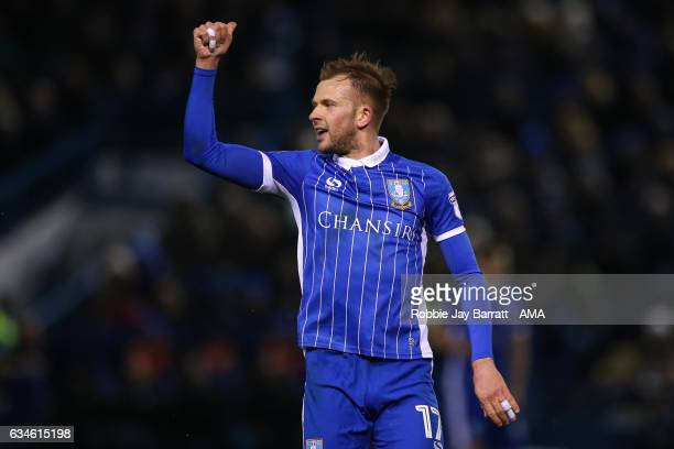 Jordan Rhodes of Sheffield Wednesday during the Sky Bet Championship match between Sheffield Wednesday and Birmingham City at Hillsborough on...