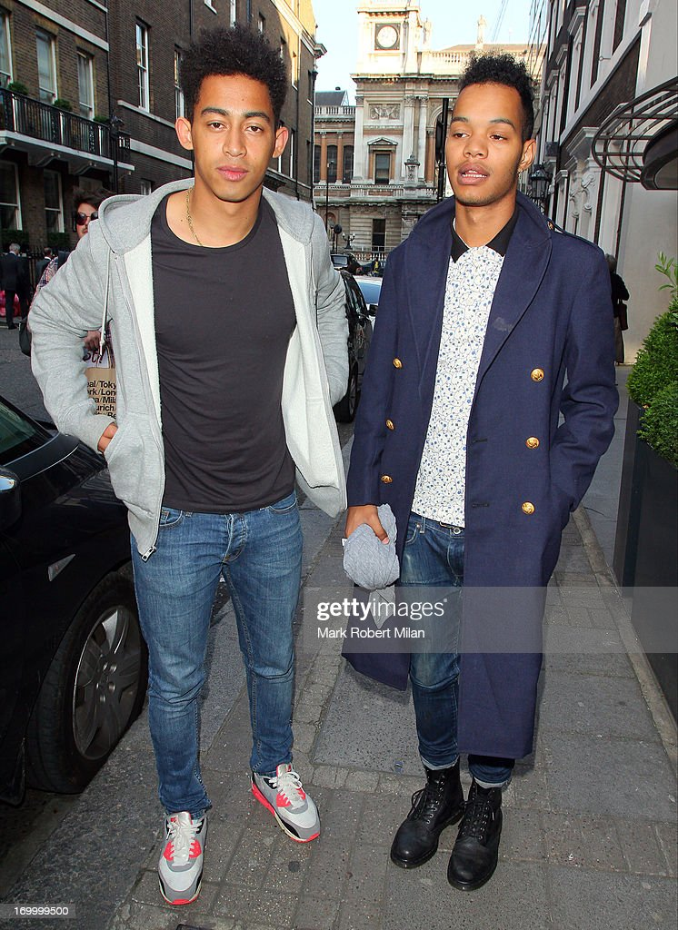 Jordan 'Rizzle' Stephens and Harley 'Sylvester' Alexander-Sule attending the Retro Feasts launch party on June 5, 2013 in London, England.