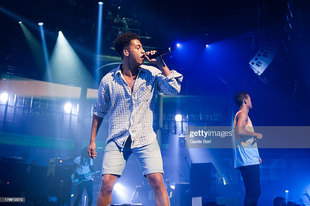 Jordan 'Rizzle' Stephens and Harley 'Sylvester' Alexander-Sule of Rizzle Kicks perform on stage on Day 5 of iTunes Festival 2013 at The Roundhouse on September 5, 2013 in London, England.