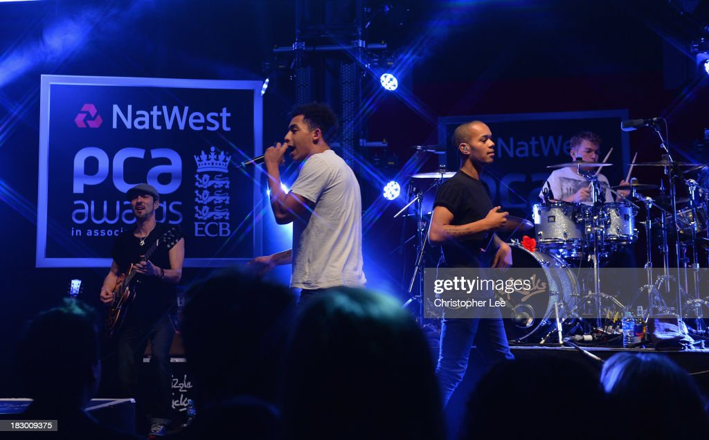 Jordan 'Rizzle' Stephens and Harley 'Sylvester' Alexander-Sule of Rizzle Kicks preform during the NatWest PCA Awards at The Roundhouse on October 3, 2013 in London, England.