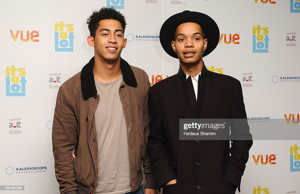 Jordan 'Rizzle' Stephens and Harley 'Sylvester' Alexander-Sule of Rizzle Kicks attend the West End Premiere of 'It's A Lot' at Vue West End on October 21, 2013 in London, England.