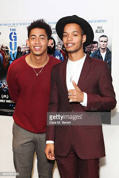 Jordan 'Rizzle' Stephens and Harley 'Sylvester' AlexanderSule of Rizzle Kicks attend the UK Premiere of 'The Guvnors' at Odeon Covent Garden on...