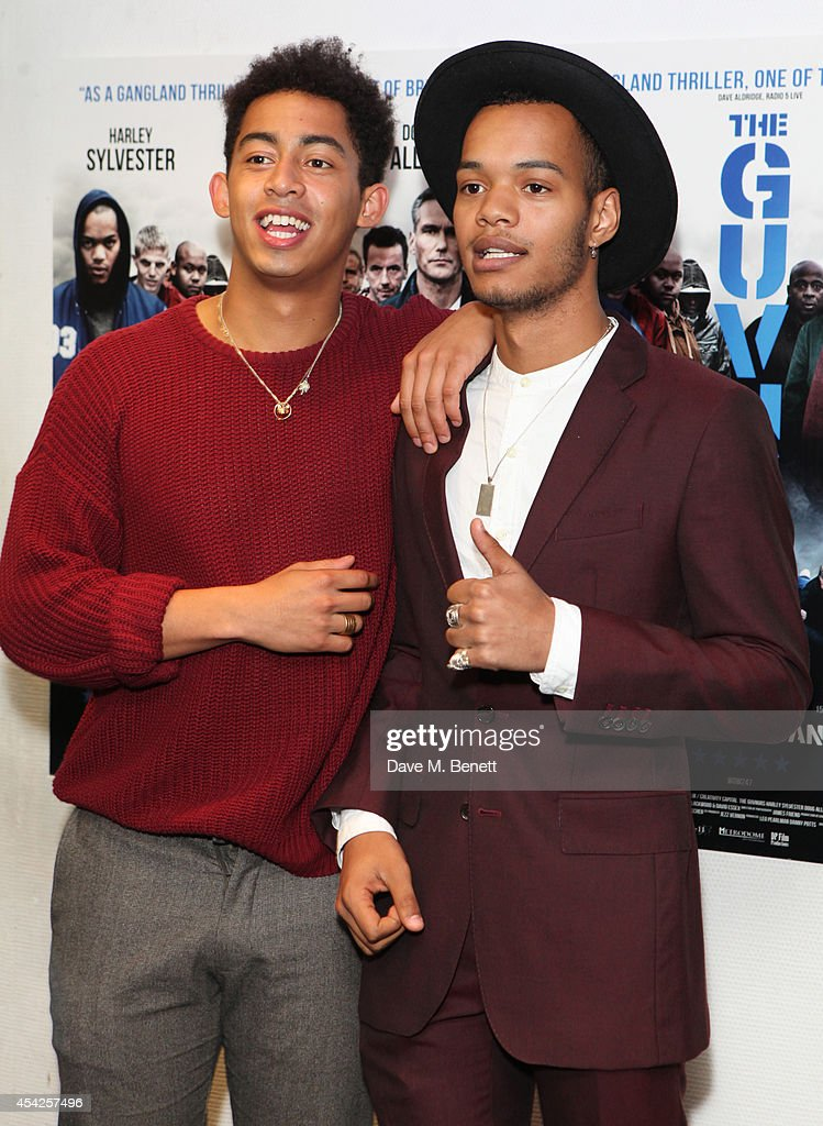 Jordan 'Rizzle' Stephens (L) and Harley 'Sylvester' Alexander-Sule of Rizzle Kicks attend the UK Premiere of 'The Guvnors' at Odeon Covent Garden on August 27, 2014 in London, England.