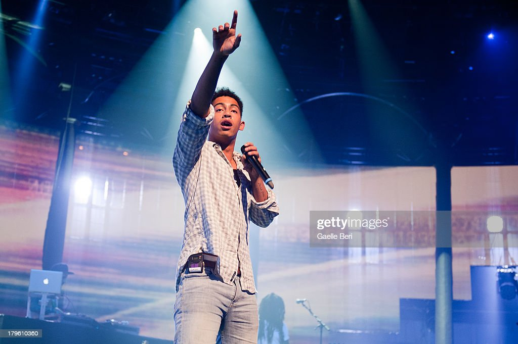 Jordan 'Rizzle' Stephens of Rizzle Kicks performs on stage on Day 5 of iTunes Festival 2013 at The Roundhouse on September 5, 2013 in London, England.