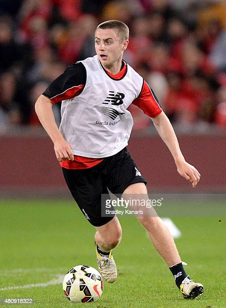 Jordan Rossiter in action during a Liverpool FC training session at Suncorp Stadium on July 16 2015 in Brisbane Australia