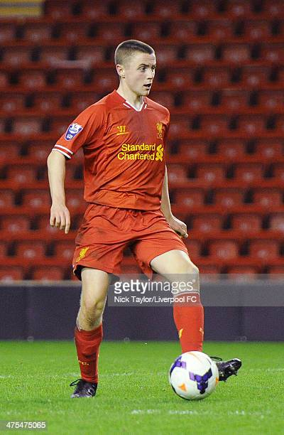 Jordan Rossiter of Liverpool during the Barclays Premier League Under 21 fixture between Liverpool and Wolverhampton Wanderers at Anfield on February...