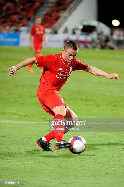 Jordan Rossiter of Liverpool in action during the international friendly match between Thai Premier League All Stars and Liverpool FC at Rajamangala...