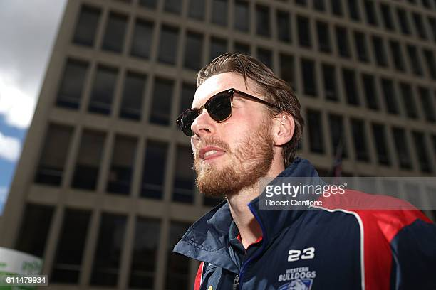 Jordan Roughead of the Bulldogs is seen during the 2016 AFL Grand Final Parade on September 30 2016 in Melbourne Australia