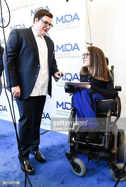 Jordan Smith and Shannon DeVido attend the Muscular Dystrophy Association Funding Announcement at Carnegie Hall on January 29 2016 in New York City