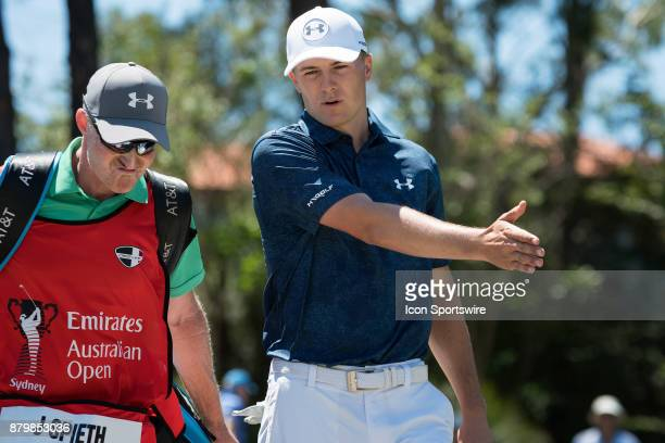 Jordan Spieth at the final round of the 102nd Australian Open Golf Championship at The Australian Golf Club in Sydney on November 26 2017