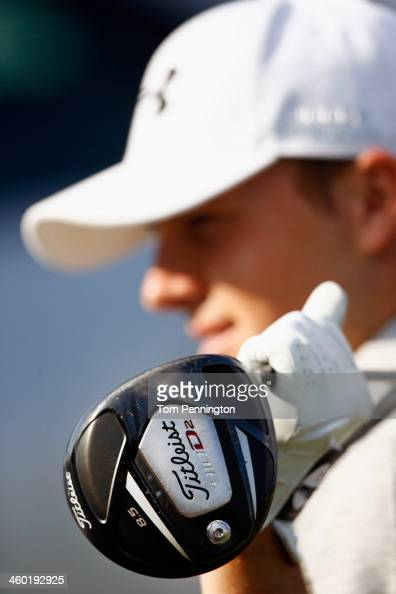 Jordan Spieth hold his driver during the ProAm round of the Hyundai Tournament of Champions at the Plantation Course at Kapalua Golf Club on January...