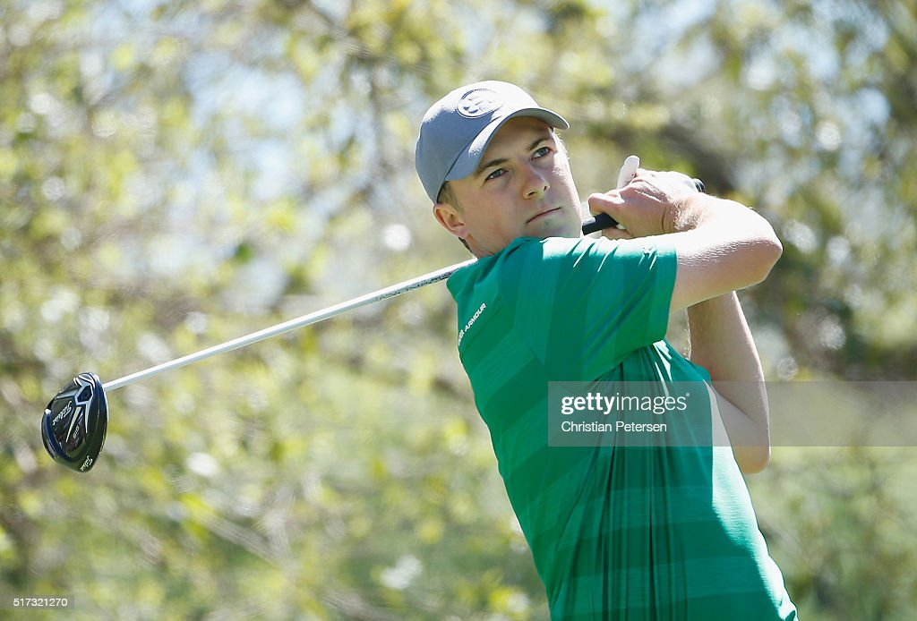 Jordan Spieth of the United States hits his tee shot on the 12th hole during the second round of the World Golf Championships-Dell Match Play at the Austin Country Club on March 24, 2016 in Austin, Texas.