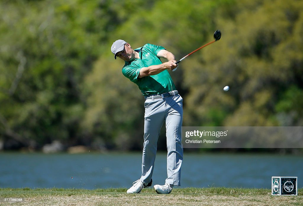 Jordan Spieth of the United States hits his tee shot on the 14th hole during the second round of the World Golf ChampionshipsDell Match Play at the...