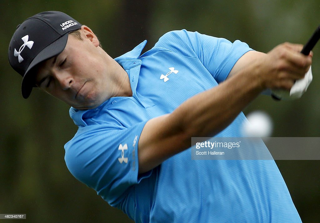 Jordan Spieth of the United States hits his tee shot on the ninth hole during round one of the Shell Houston Open at the Golf Club of Houston on April 3, 2014 in Humble, Texas.