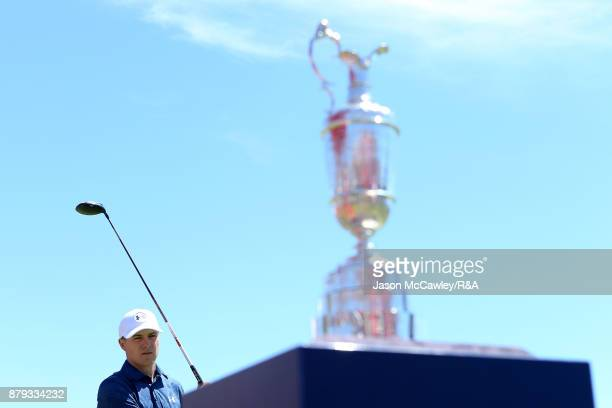 Jordan Spieth of the United States looks on during day four of the 2017 Australian Golf Open at the Australian Golf Club on November 26 2017 in...