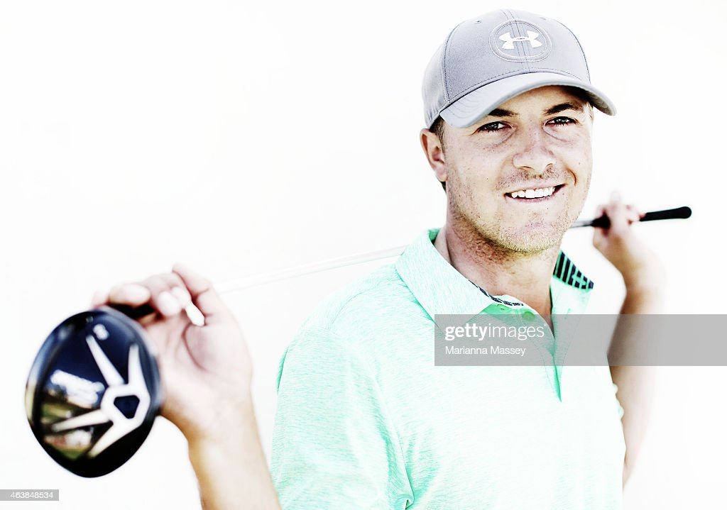 Jordan Spieth of the United States poses for a portrait on the range ahead of the Northern Trust Open on February 18, 2015 at The Riviera Country Club in Pacific Palisades, California.