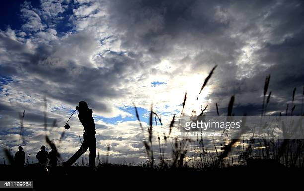 Jordan Spieth of the United States tees off on the 15th during the second round of the 144th Open Championship at The Old Course on July 18 2015 in...