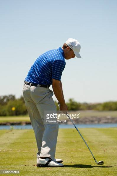 Jordan Spieth plays a tee shot during the third round of the Valero Texas Open at the ATT Oaks Course at TPC San Antonio on April 21 2012 in San...