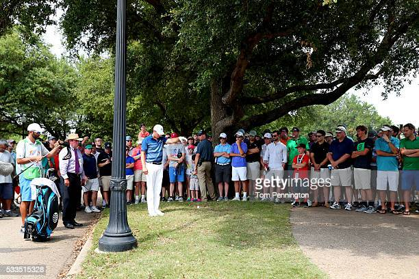Jordan Spieth prepares to hit on the 11th hole during the Final Round at ATT Byron Nelson on May 22 2016 in Irving Texas