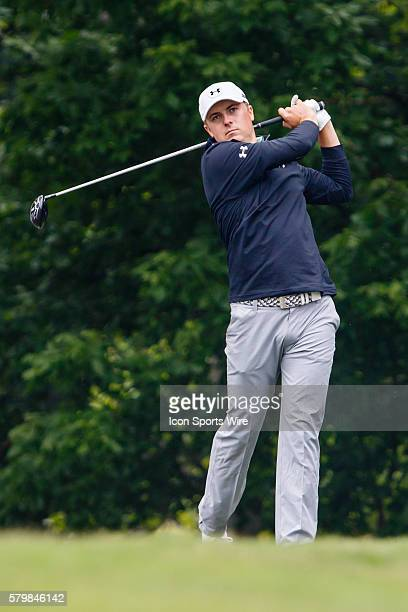 Jordan Spieth tees off on during the second round of the Crowne Plaza Invitational at Colonial in Fort Worth TX