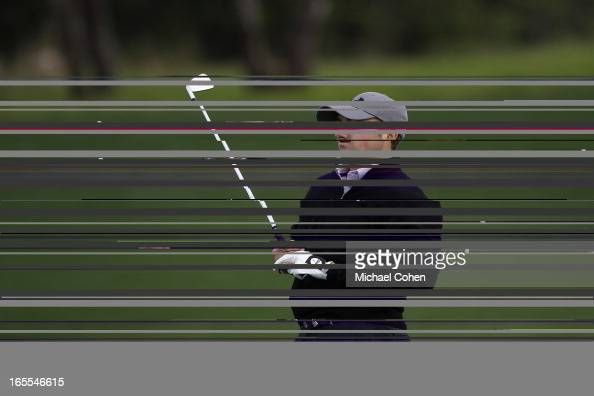 Jordan Spieth watches his shot during the first round of the Valero Texas Open held at the ATT Oaks Course at TPC San Antonio on April 4 2013 in San...