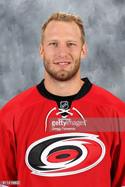 Jordan Staal of the Carolina Hurricanes poses for his official headshot for the 20162017 season on September 22 2016 at Carolina Family Practice and...