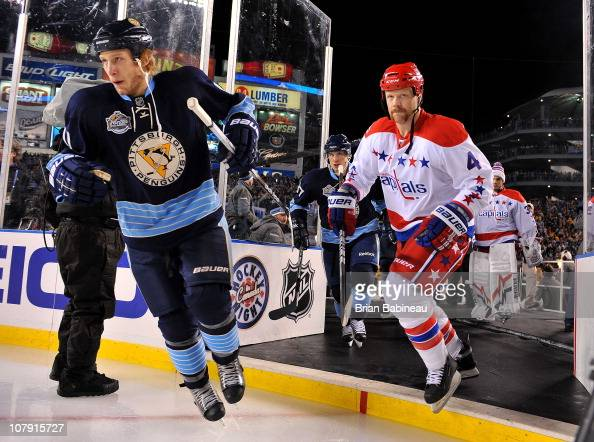 Jordan Staal of the Pittsburgh Penguins against the Washington Capitals during the 2011 NHL Bridgestone Winter Classic at Heinz Field on January 1...