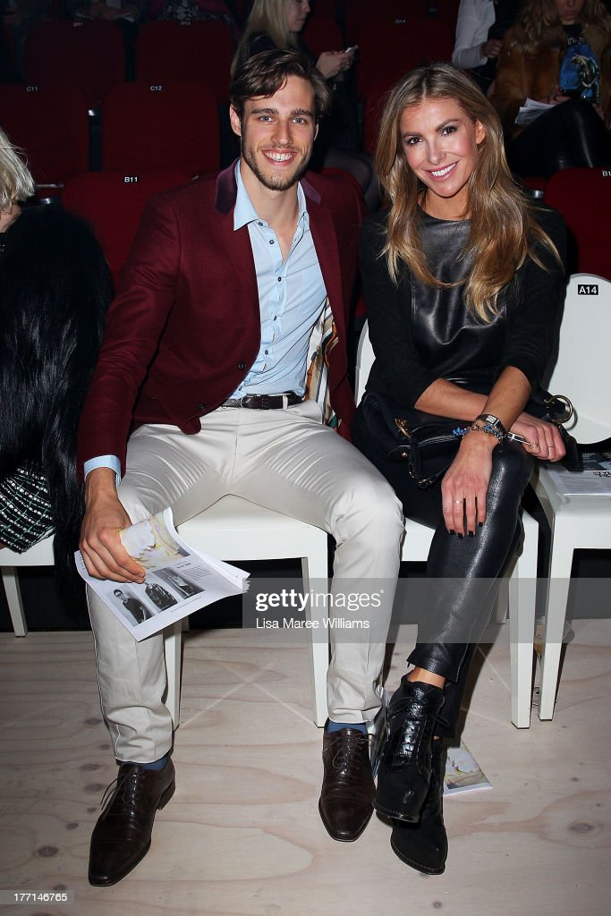 Jordan Stenmark and Laura Csortan attend the MBFWA Trends show during Mercedes-Benz Fashion Festival Sydney 2013 at Sydney Town Hall on August 21, 2013 in Sydney, Australia.