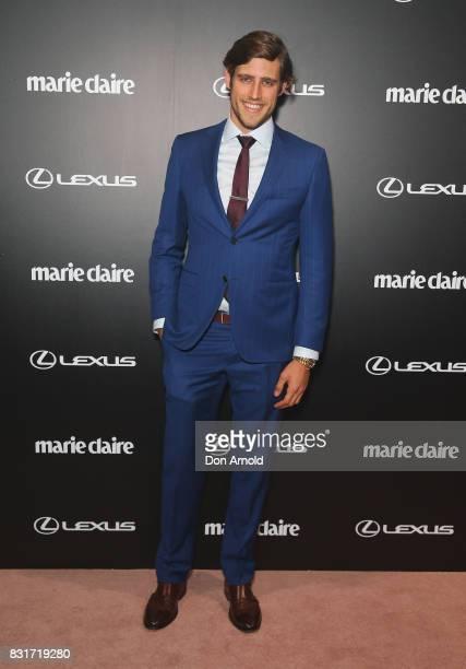 Jordan Stenmark arrives ahead of the 2017 Prix de Marie Claire Awards on August 15 2017 in Sydney Australia