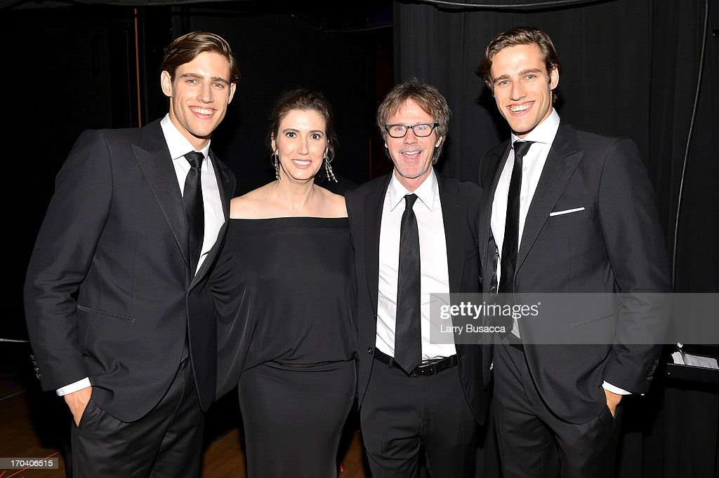 Jordan Stenmark, Zac Stenmark, Elizabeth Musmanno (2nd L) and Dana Carvey (2nd R) attend the 2013 Fragrance Foundation Awards at Alice Tully Hall at Lincoln Center on June 12, 2013 in New York City.