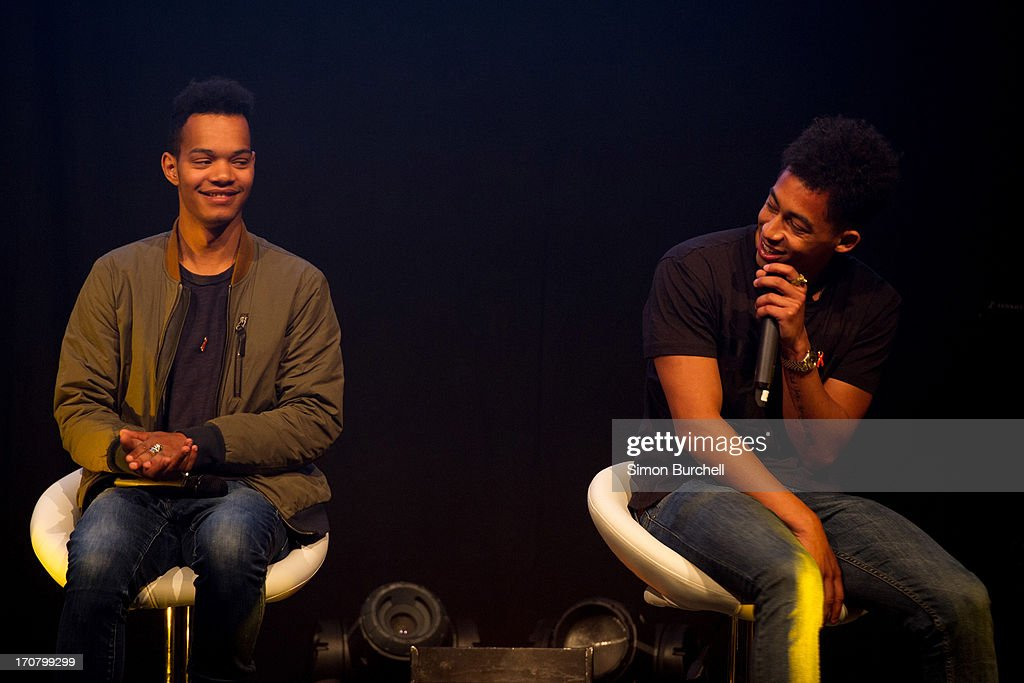 Jordan Stephens and Harley Alexander attends a photocall to accounce 'Unity - A Concert for Stephen Lawrence' at Abbey Road Studios on June 18, 2013 in London, England.