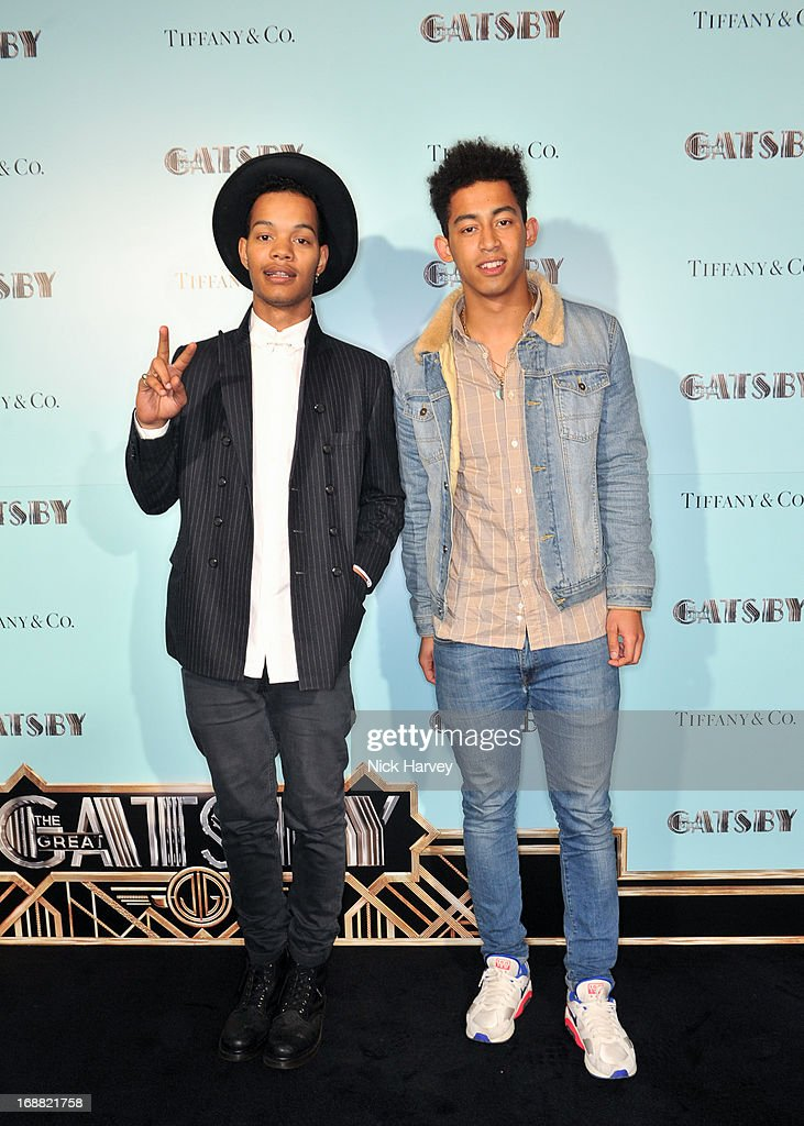 Jordan Stephens and Harley Sylvester of Rizzle Kicks attend the Tiffany & Co. and Warner Brothers special screening of The Great Gatsby on May 15, 2013 in London, England.