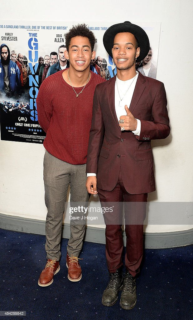 <a gi-track='captionPersonalityLinkClicked' href=/galleries/search?phrase=Jordan+Stephens&family=editorial&specificpeople=5608666 ng-click='$event.stopPropagation()'>Jordan Stephens</a> and Harley Sylvester of Rizzle Kicks attend the UK Premiere of 'The Guvnors' at Odeon Covent Garden on August 27, 2014 in London, England.