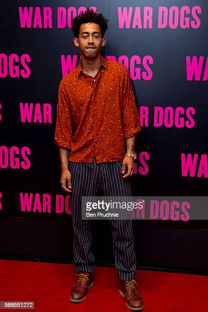 Jordan Stephens attends a special screening of War Dogs at Picturehouse Central on August 11 2016 in London England