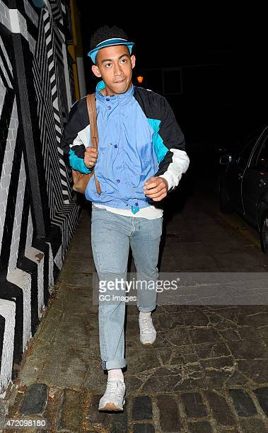 Jordan Stephens attends Laura Whitmore's 30th 1985 fancy dress Birthday party at Clutch in East London on May 3 2015 in London England
