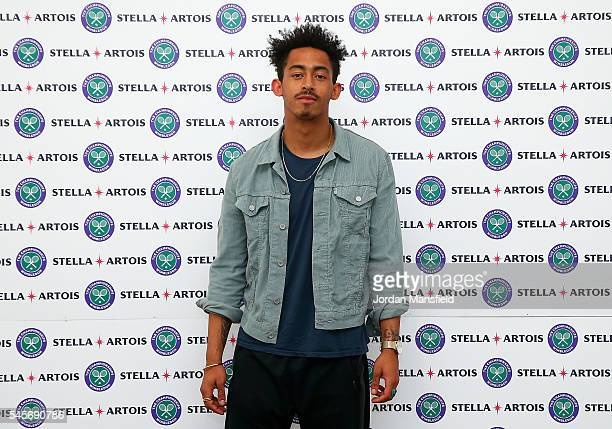 Jordan Stephens attends The Championships Wimbledon with Stella Artois who have launched immersive theatre experience #TheTimePortal as part of their...