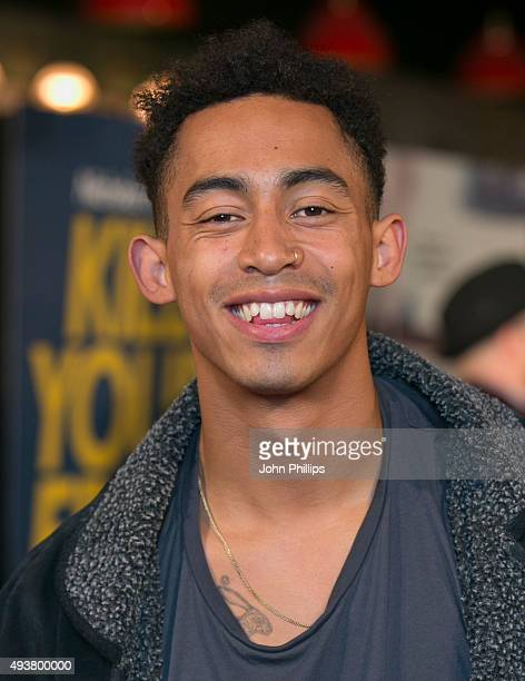 Jordan Stephens attends the 'Kill Your Friends' UK Premiere at Picturehouse Central on October 22 2015 in London England