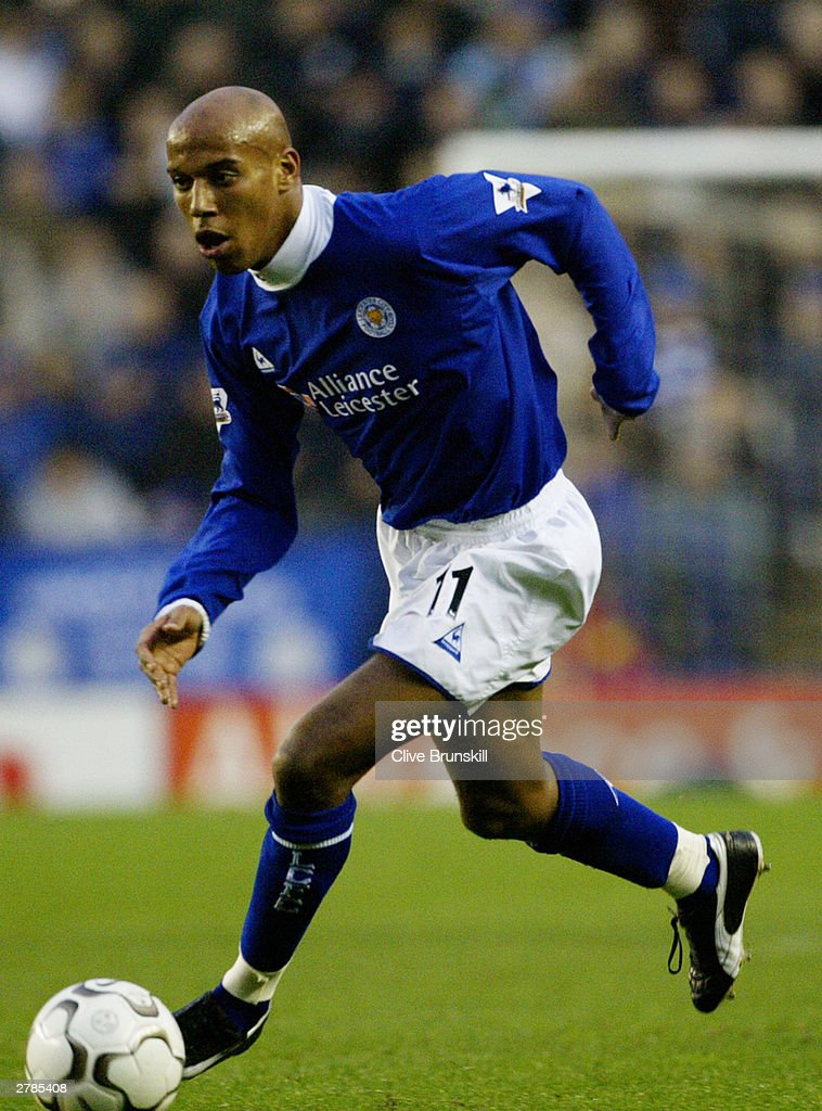 Jordan Stewart of Leicester City running with the ball during the FA Barclaycard Premiership match between Leicester City and Charlton Athletic on Novermber 22, 2003 at Walkers Stadium in Leicester, England. The match ended in a 0-0 draw.