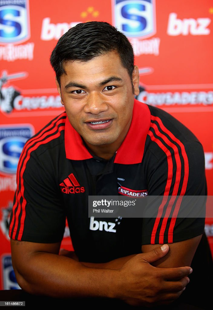 Jordan Taufua of the Crusaders poses for a portrait during the 2013 Super Rugby Season Launch at the Royal Akarana Yacht Club on February 12, 2013 in Auckland, New Zealand.