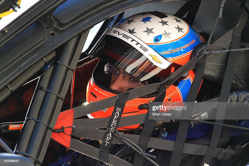 Jordan Taylor sits in his car before qualifying for the Grand-Am of the Americas at Circuit of The Americas on March 1, 2013 in Austin, Texas.