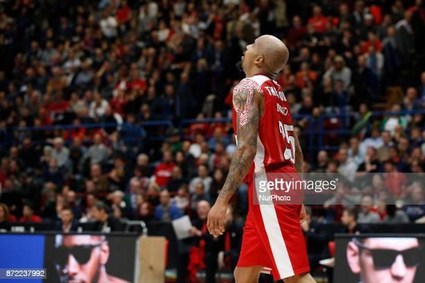 Jordan Theodore during a game of Turkish Airlines EuroLeague basketball between AX Armani Exchange Milan vs Zalgiris Kaunas at Mediolanum Forum on...