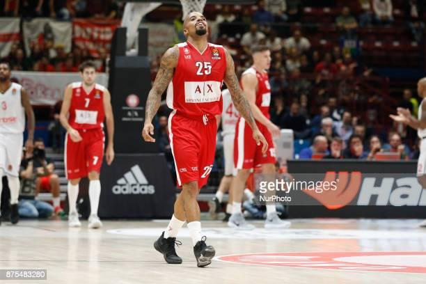 Jordan Theodore during a game of Turkish Airlines EuroLeague basketball between AX Armani Exchange Milan vs Brose Bamberg at Mediolanum Forum on...