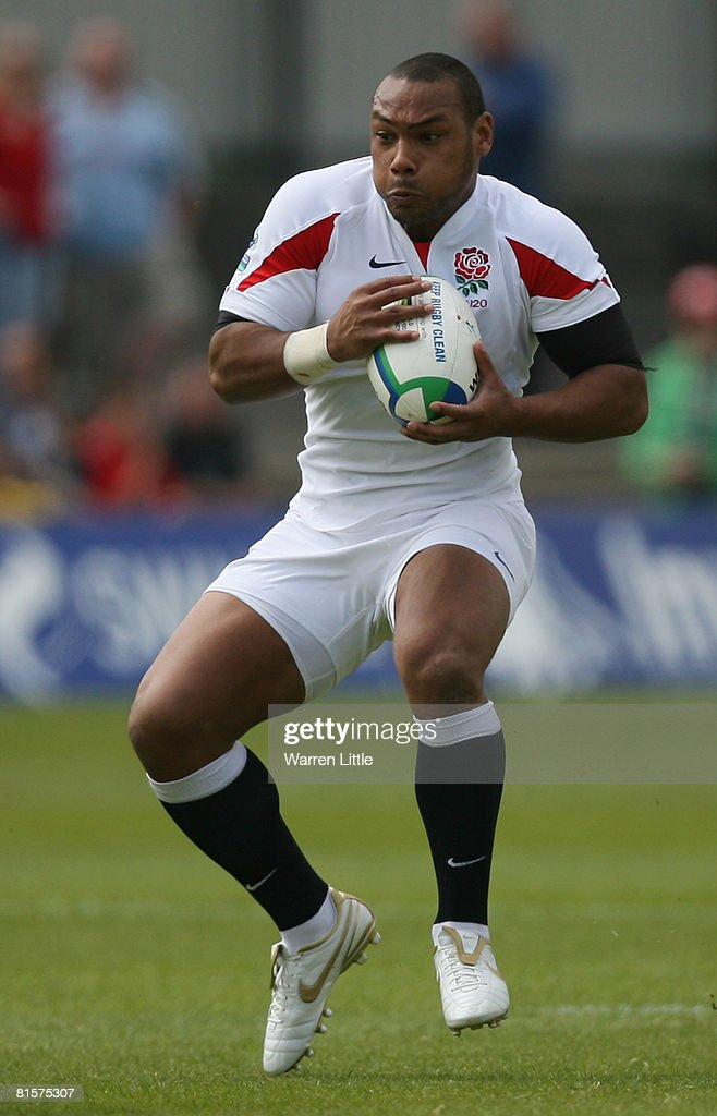 Jordan TurnerHall of England in action during the IRB Junior World Cup match between Australia and England at Rodney Parade on June 14 2008 in...